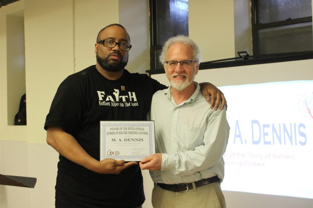 Daniel Baldwin with M.A. Dennis