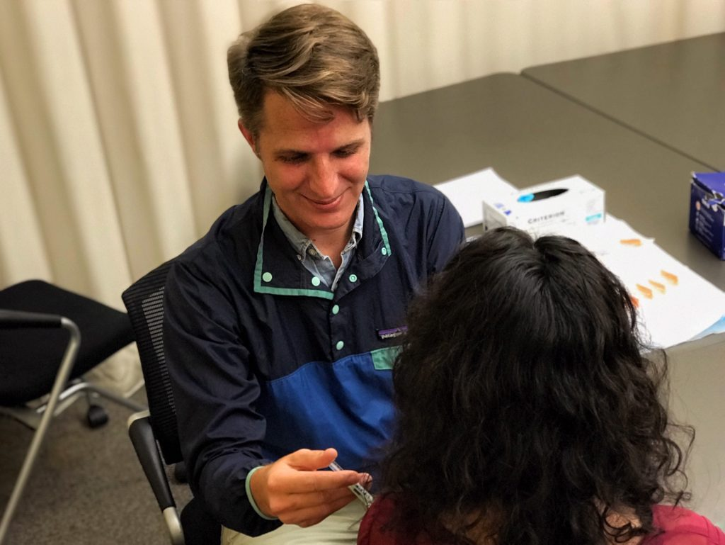 Judson York Administering a Flu Shot