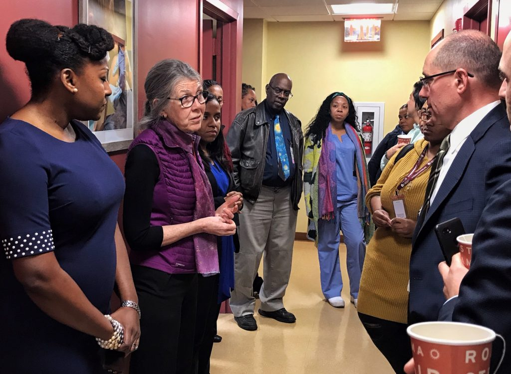 Dr. Regina Olasin gives a tour of Care Found Here - Junius Street
