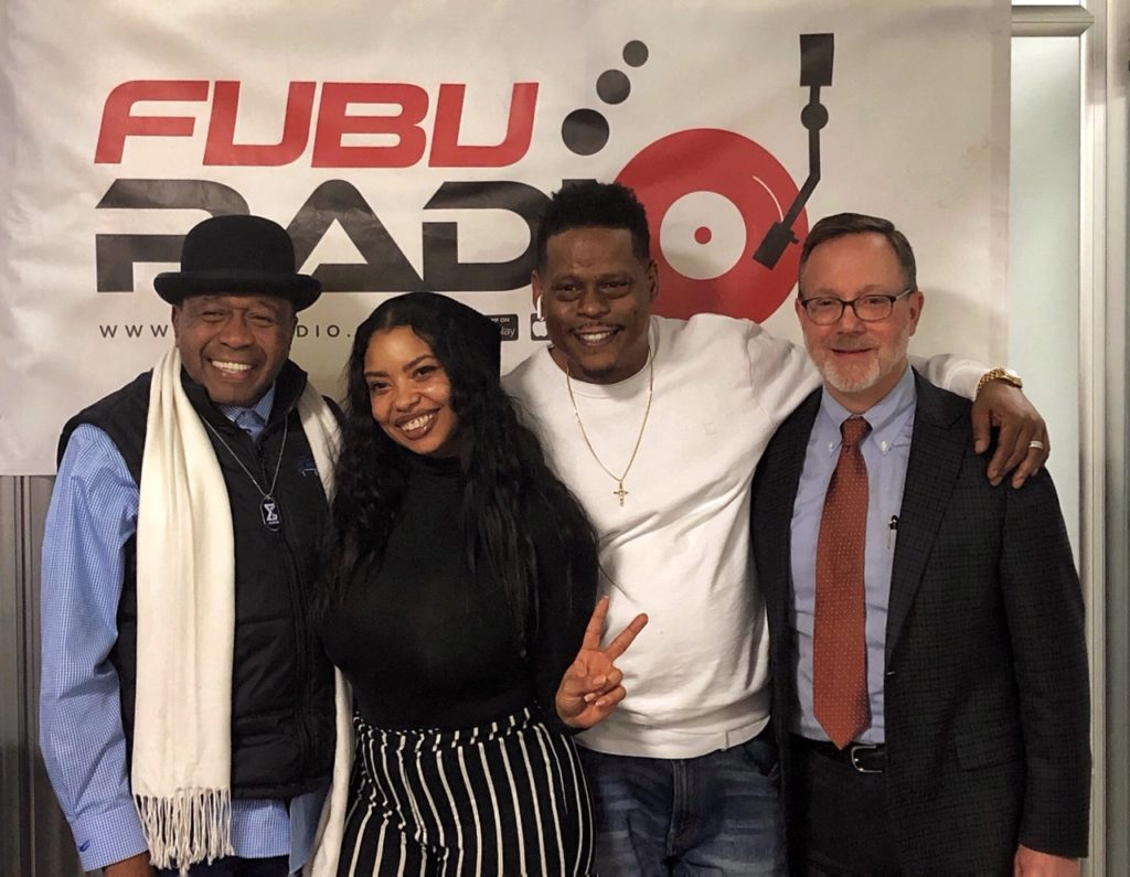 Ben Vereen, FUBU Radio's Chrys Child's, Keith Perrin, CFH President & CEO George Nashak