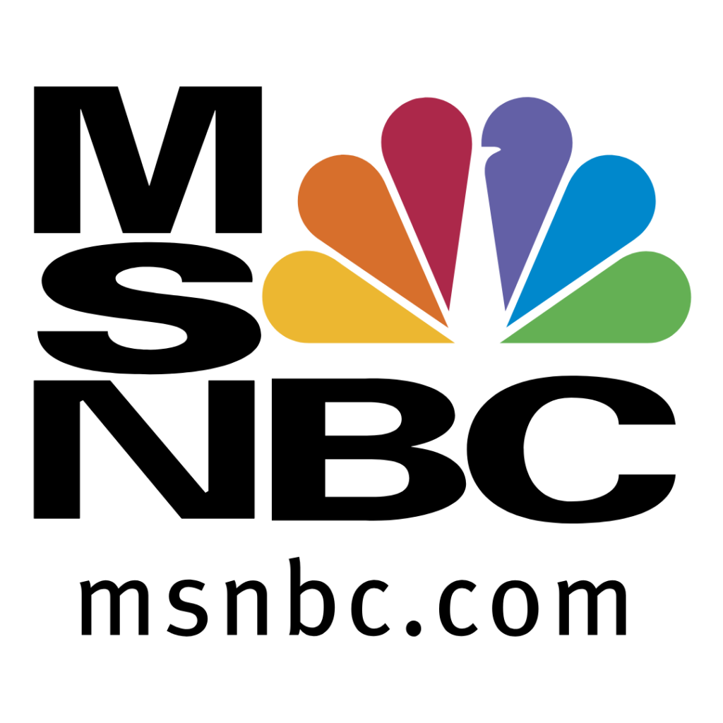 MSNBC logo. Ben Vereen. CFH.